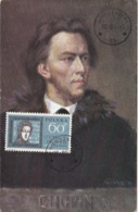 Carte Maximum Musique Pologne 1986 Chopin - Maximumkarten