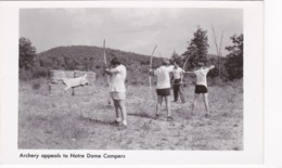 RP, Boys, Archery Appeals To Notre Dame Campers, New York, 1930-1950s - Archery