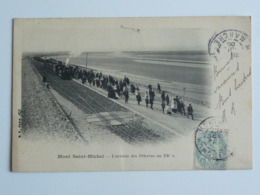 MONT SAINT MICHEL L' Arrivée Des Pèlerins Au XX éme Siècle.Train - Le Mont Saint Michel