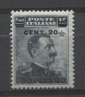 VALONA 1916  20 C. SU 30 PA. SU 15 C  ** MNH - Bureaux D'Europe & D'Asie