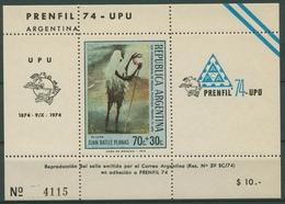 Argentinien 1974 PRENFIL Lama 1173 Block Postfrisch (C93797) - Blocchi & Foglietti