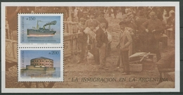 Argentinien 1989 Einwanderung Block 39 Postfrisch (C93793) - Blocs-feuillets