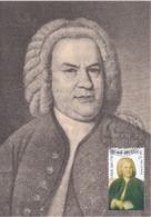 Carte Maximum Musique Belgique 2000 Bach - Maximumkarten (MC)