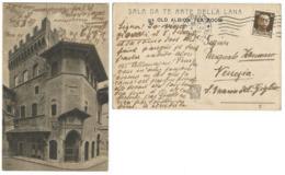 Firenze Palazzo Sala Da Té Arte Della Lana - Old Albion Tea Room - Cart.b/n Viaggiata 6dic1938 Perfetta! - Firenze