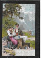 AK 0336  Trachtenpaar Auf Der Alm - Künstlerkarte Um 1903 - Paare