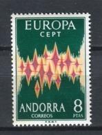 Europa CEPT 1972. Andorra ** MNH. - 1972