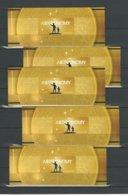 "UCRANIA / UKRAINE /UKRANIA - EUROPA 2009 - ""ASTRONOMIA"" - FIVE  BOOKLETS With SOUVENIR SHEET PERFORATED - Europa-CEPT"