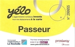 Ticket - Yélo - Passeur - La Rochelle - Europa