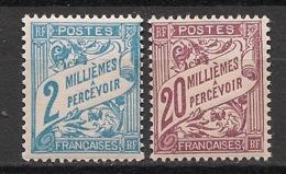 Alexandrie - 1928 - Taxe N°Yv. 7 Et 11 - 2m Bleu Et 20m Brun -Neuf Luxe ** / MNH / Postfrisch - Alexandrie (1899-1931)
