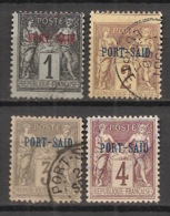 Port Said - 1899 - N°Yv. 1 - 2 - 3 - 4 - Type Sage - 4 Valeurs - Oblitéré / Used - Port-Saïd (1899-1931)
