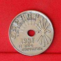 SPAIN 25 CENTIMOS 1937 -    KM# 753 - (Nº31627) - [ 2] 1931-1939 : République