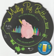 STRATFORD UPON AVON BREWERY (STRATFORD UPON AVON, ENGLAND) - MALTY PIG BITTER - PUMP CLIP FRONT - Uithangborden
