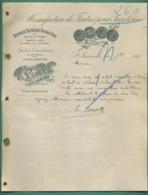 87 Saint Junien Dordel Feutre Pour Papeteries Sécheurs Coton 7 Septembre 1905 - Imprimerie & Papeterie