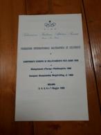 1960 OPUSCOLO CAMPIONATI EUROPEI DI SOLLEVAMENTO PESI ANNO 1960 - MILANO - Non Classificati