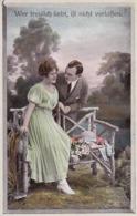 AK Wer Treulich Liebt, Ist Nicht Verlassen - Liebespaar -  1918 (44230) - Paare