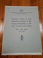 1961 - MILANO OPUSCOLO CAMPIONATI EUROPEO DI JUDO - Arti Martiali
