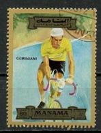 EAU - Manama 1972 Y&T N°PA96-80 - Michel N°1190 (o) - 80r Géminiani - Manama