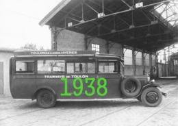 RARE PHOTO......... SUPERBE AUTOCAR CITROEN EN 1938 ........FORMAT 18x24 Cm  . - Automobiles
