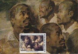 Carte Maximum Peinture Haute-Volta Rubens 1977 - Obervolta (1958-1984)