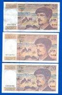 20  Fr  3  Billets - 1962-1997 ''Francs''