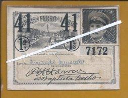 Lisbon Railway Company Card. 1941. World War II. Military. Lissabon Eisenbahngesellschaft Karte. Zweiter Weltkrieg. Rare - Abonnements Hebdomadaires & Mensuels
