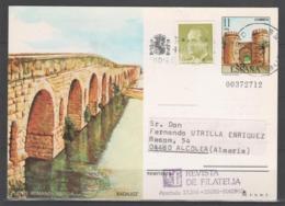 TARJETA ENTERO POSTAL 1984, CIRCULADA. TURISMO. - 1931-....