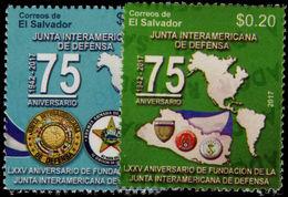 El Salvador 2017 Inter-American Defense Committee Unmounted Mint. - El Salvador