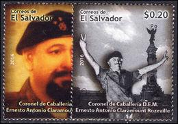 El Salvador 2016 Ernesto Antonio Claramont Roseville Unmounted Mint. - El Salvador
