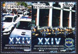 El Salvador 2016 National And Civil Police Unmounted Mint. - El Salvador