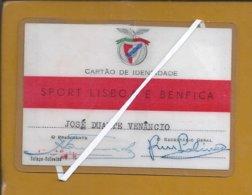 Futebol. Soccer. Cartão De Sócio Do Benfica . Campeão. Eusébio. Águia. Benfica Membership Card. Champion. Football.Rare - Sports