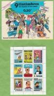 Bloc Feuillet 9 Vignettes Publicité Exclusif SAMARITAINE + Enveloppe Hergé Tournesol Milou Haddock !!! ETAT Plis !!! - Tintin