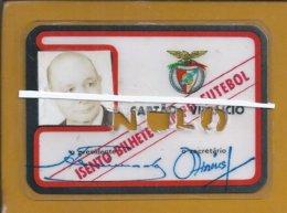 Futebol. Soccer. Cartão De Sócio Do Benfica . Campeão. Eusébio. Águia. Benfica Membership Card. Champion. Football. Rare - Sports