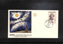France 1957 Astronomy Nicolaus Copernicus Interesting Cover - Astronomie