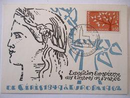 Frankreich, Maximumkarte Von 1962, Europa  - [7] Repubblica Federale