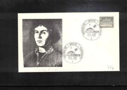 Germany 1965 Astronomy Nicolaus Copernicus Interesting Cover - Astronomie