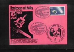 Germany / Deutschland 1986 Astronomy Halley Comet Interesting Cover - Astronomie