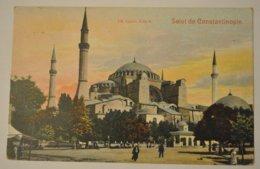 Turquie Salut De Constantinople Ste Sophie Côté N Timbre Poste Francaise Levant - Turchia