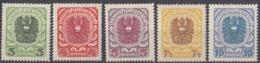 AUSTRIA - OSTERREICH - 1920/1921 - Lotto Composto Da 5 Valori Nuovi MNH: Yvert 227/231. - Neufs