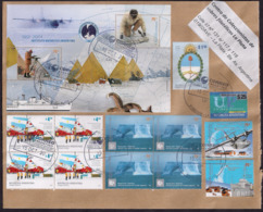 Argentina - 2019 - Lettre - Thème Antarctique - Expéditions Antarctiques - Divers Timbres - Argentina