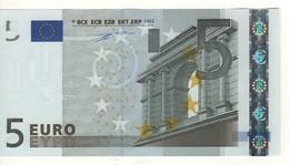 "5 EURO  ""P""  Olanda   Firma Duisenberg      P 006 J6    /  FDS - UNC - 5 Euro"