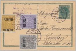 AUSTRIA - OSTERREICH - 1918 - Intero Postale (cartolina) Da 8 Heller + Posta Aerea 1/3 - Interi Postali