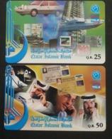 Qatar Telephone Card 2 Different Chip Card - Qatar