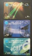 Qatar Telephone Card 3 Different - Qatar