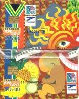 REPUBLIC OF SOUTH  AFRICA 15 R X 2 HEALTH TRAIN CARTOON PUZZLE CHIP CV.$65US READ DESCRIPTION !! - South Africa