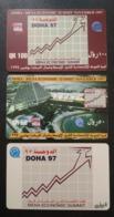 Qatar Telephone Card Old 2 Different Colour - Qatar