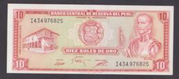 PERU BANKNOTE 10 SOLES , 1975 - Peru