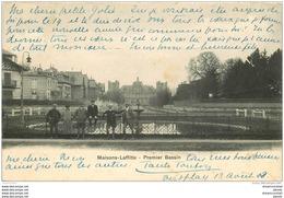 78 MAISONS-LAFFITTE. Premier Bassin Animé 1903 - Maisons-Laffitte