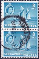 Singapur - HM + Trenganu Pinas (Küstenschiff) (MiNr: 33) 1955 - Gest Used Obl - Singapur (...-1959)