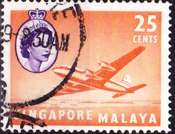 "Singapur - HM + ""Argonaut"" (MiNr: 37) 1955 - Gest Used Obl - Singapur (...-1959)"