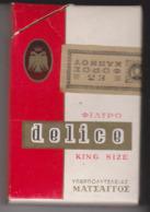 PAQUET CIGARETTES VIDE  DELICE GRECE - Empty Cigarettes Boxes